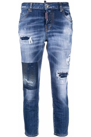 Dsquared2 Ripped-detail denim jeans