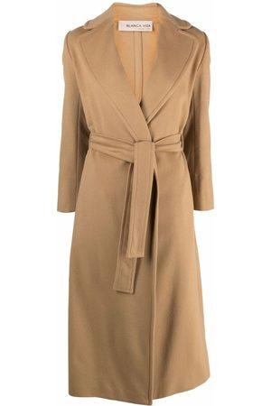 BLANCA Women Coats - Belted wrap overcoat