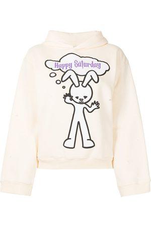Natasha Zinko Happy Saturday embroidered hoodie