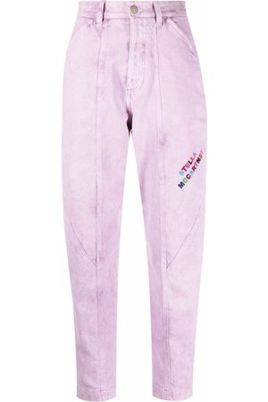 Stella McCartney Logo-embroidered tapered jeans