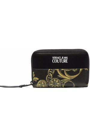 VERSACE Barocco-print all-around zip wallet