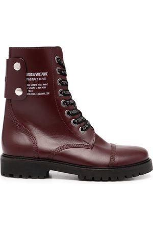 Zadig & Voltaire Joe side print boots