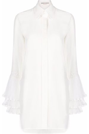 ERMANNO SCERVINO Women Tops - Pointed-collar contrast-cuff shirt