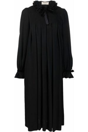 A.N.G.E.L.O. Vintage Cult 1970s long-sleeved pleated midi-dress