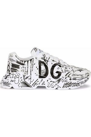 Dolce & Gabbana Men Sneakers - Hand-painted graffiti Daymaster sneakers