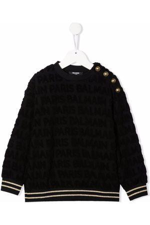 Balmain Textured buttoned sweatshirt