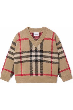 Burberry Vintage Check V-neck jumper