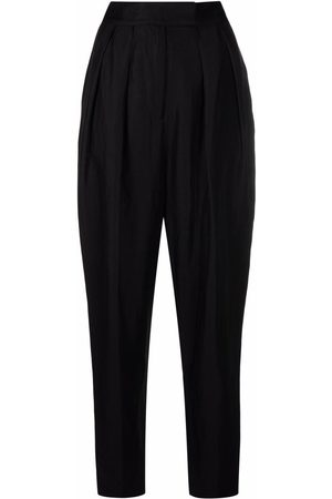 Bash High-waist tapered trousers