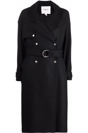 Bash Belted double-breasted coat