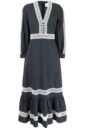 Erdem Women Dresses - Lace-trim polka-dot dress