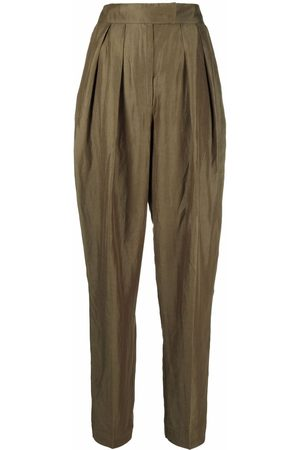Bash Women Pants - Paolo pleat-detail high-waisted trousers
