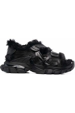 Balenciaga Women Sandals - Faux-fur Track sandals
