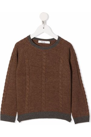 BONPOINT Boys Jumpers - Cable knit recycled wool jumper