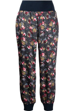 Cinq A Sept Floral-print tapered trousers