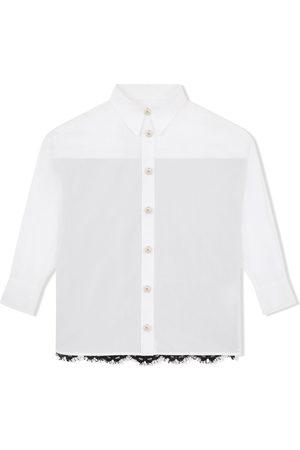 Dolce & Gabbana Long-sleeve lace-panel shirt