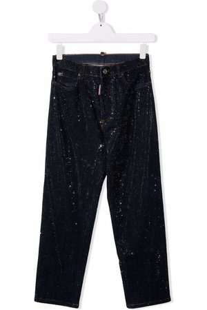 Dsquared2 Girls Straight - TEEN mid-rise straight-leg jeans