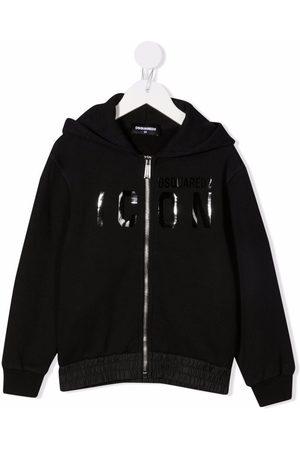 Dsquared2 Boys Hoodies - Logo-print zip-up hoodie