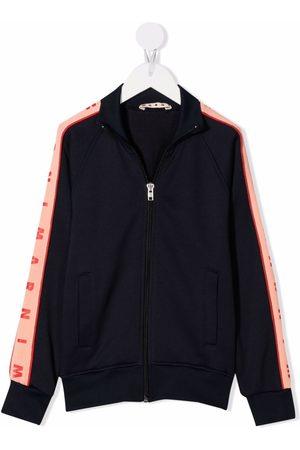 Marni Boys Bomber Jackets - Logo-trim bomber jacket
