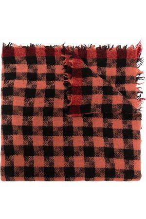 Faliero Sarti Women Scarves - Checked frayed-edge scarf
