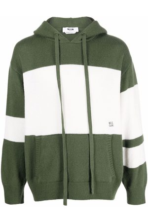 Msgm Two-tone knitted hoodie