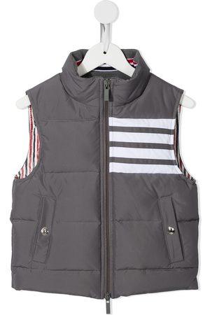 Thom Browne Boys Gilets - Downfilled sleeveless 4-Bar vest