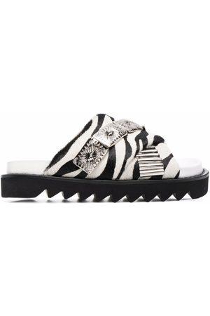 TOGA PULLA Women Sandals - Embellished zebra-print sandals