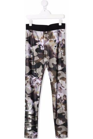 DKNY TEEN camouflage-print leggings
