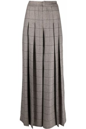 FEDERICA TOSI Flared check trousers