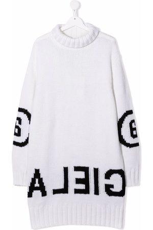 MM6 KIDS Logo-print oversized jumper