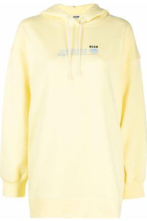 Msgm Logo-print organic cotton hoodie