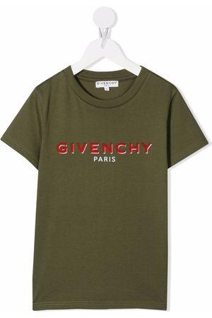 Givenchy Boys Short Sleeve - Logo-print short-sleeved T-shirt
