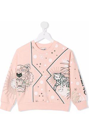 Kenzo Girls Sweatshirts - Graphic logo-print cotton sweatshirt