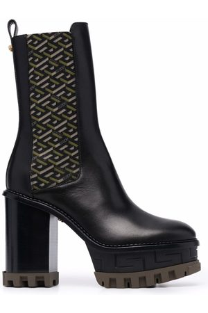 VERSACE Women Heeled Boots - Platform-sole block-heel boots