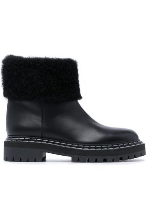 Proenza Schouler Women Ankle Boots - Lug Sole Shearling Ankle Boots