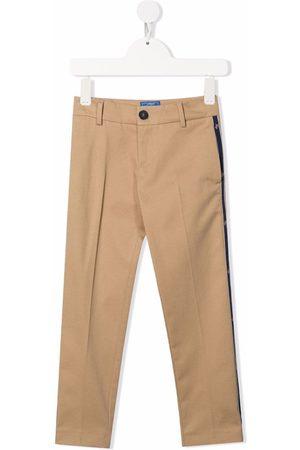 FAY KIDS Boys Stretch Pants - Logo-tape stretch-cotton trousers