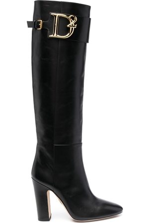 Dsquared2 Women Knee High Boots - Logo-plaque knee boots