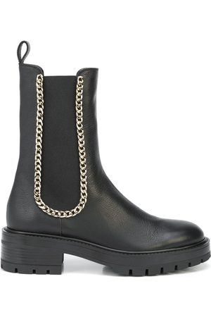 Aquazzura Women Ankle Boots - Chain-trim ankle boots
