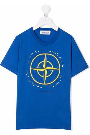 Stone Island Boys Short Sleeve - Graphic-print cotton T-Shirt