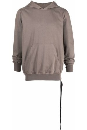 Rick Owens Pouch-pocket cotton hoodie