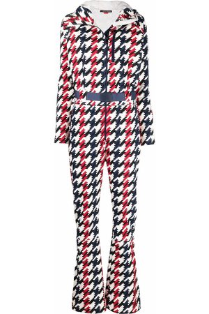 Perfect Moment Women Jumpsuits - Star houndstooth-print jumpsuit