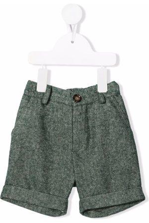 Mariella Ferrari Baby Shorts - Chevron-knit knee-length shorts