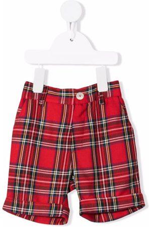 Mariella Ferrari Baby Shorts - Check-print knee-length shorts