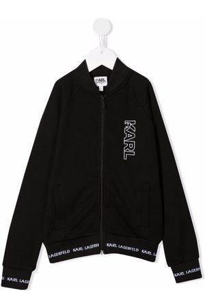 Karl Lagerfeld Logo-print zip-up hoodie