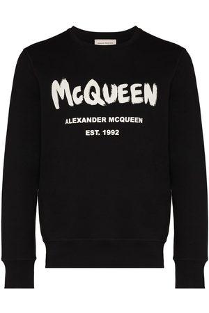 Alexander McQueen Men Sweatshirts - Graffiti-print sweatshirt