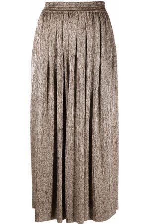 Isabel Marant Women Wide Leg Pants - Notilde metallic pleated wide-leg trousers