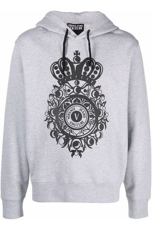 Versace Jeans Couture Logo print drawstring hoodie