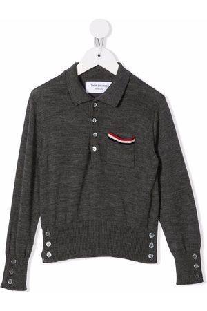 Thom Browne Kids RWB stripe-detail polo shirt