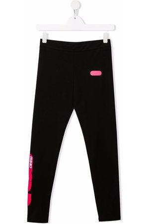 Gcds Kids Girls Leggings - TEEN logo-print cotton leggings