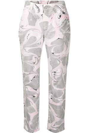 Stella McCartney High-rise abstract-print jeans