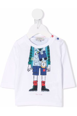 Paul Smith Junior Baby Long Sleeve - Graphic-print cotton T-Shirt